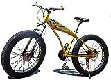 TTZY 4.0 neumático Ancho Grueso de Ruedas de Bicicletas de montaña, Motos de Nieve en vehículo Todoterreno de Bicicletas, 24 pulgadas-7/21/24/27/30 Velocidad 7-10,21 SHIYUE (Color : 21)