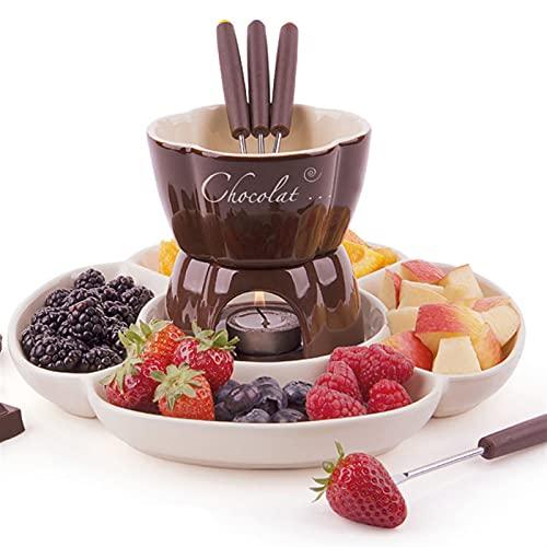 Fondue Fondue Au Chocolat, Céramique Services À Fondue Au Chocolat Style Européen Fondue De Fromage pour Chocolat, Fromage, Fromage Fondue Set Chocolate (Color : A)