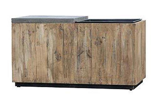 greemotion 130553 2-in-1 zitbank met plantenbak/inzetstuk, hout, tuinbank grenen/plantenbak, geïntegreerde bloembak, zitting, natuur, 85,5 x 43,5 x 47 cm