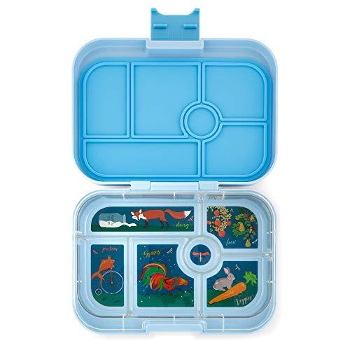 Yumbox Original M Lunchbox (Luna Blue, 6 Fächer) - mittelgroß | Brotdose mit Trennwand Einsatz | Bento Box Kindergarten Kinder, Schule, Erwachsene