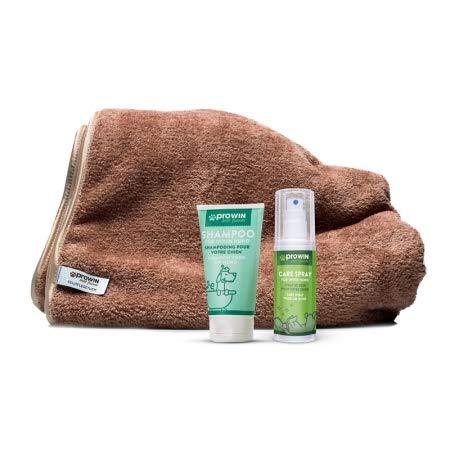 Prowin Best Friends Fellflegetuch mit Shampoo und Care Spray - Trocknen und Pflege in einem