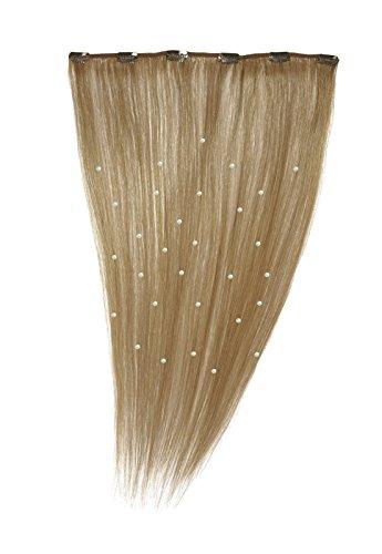 American Dream - A19/QFC12/18/27 - 100 % Cheveux Naturels - Pièce Unique Extensions Cristallisées à Clipper - Couleur 27 - Blond Riche - 46 cm