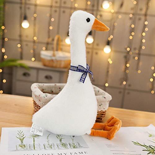 SILENCE Net Red Punch Duck avec la même Simulation Big White Goose en Peluche poupée Fille Coeur Oreiller pour apaiser la poupée endormie-Great White Goose_80Cm