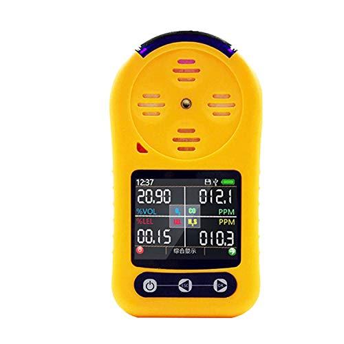 NMVB 4 en 1 Detector de Gas, probador de concentración de ozono, 0~100pm Med Med Meter O3 con Pantalla LCD, medidor de monitoreo de Gas de ozono Digital con Alarma de luz y Alarma de zumbador