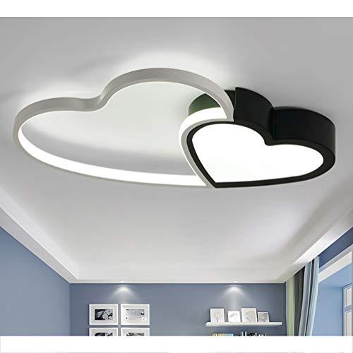 Modern Led Deckenleuchte Chic Liebe Design Deckenlampe Dimmbar Schlafzimmer Deckenbeleuchte Acryl-Schirm Metal mit Fernbedienung Lampe für Wohnzimmer Esszimmer Badezimmer Flur Jugendzimmer Hängelampe