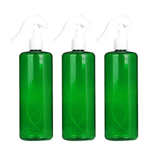 Yesloo Botella de spray de plástico de 3 piezas, botella de chorro reutilizable de 500 ml, planta de gatillo de jardinería Fine Mister para cocina, jardinería, cabello y viajes