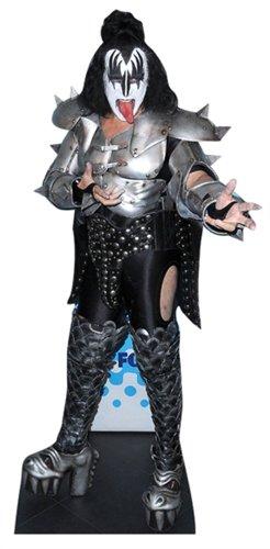 US-Way e.K. Pappaufsteller Kiss - Gene Simmons Aufsteller Standup Figur Kinoaufsteller Pappfigur Cardboard Lebensgroß Life-Size Standup