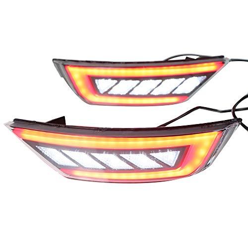 Nrpfell Para Escape Kuga 2013-2018 Luces de Parachoques Trasero Luces Luces de Parachoques Traseras Reflector Conjunto de la Luz Antiniebla Trasera