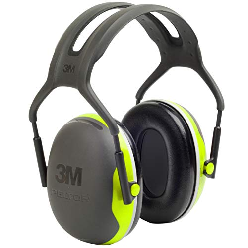 3M Personal Protective Equipment 3M Peltor X4A OvertheHead Ear Muffs Noise Protection NRR 27 dB Construction Manufacturing Maintenance Automotive Woodworking Heavy Engineering Mining Chartreuse One Size Fits Most