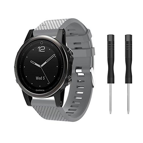 Supore Correa de Reloj para Fenix 5S, Correa de Banda de Reloj de Repuesto de Silicona Suave para Fenix 5S/Fenix 5s Plus/Fenix 6s/Fenix 6s Pro/Fenix 6s Sapphire(NO Sirve Fenix 5 5X)