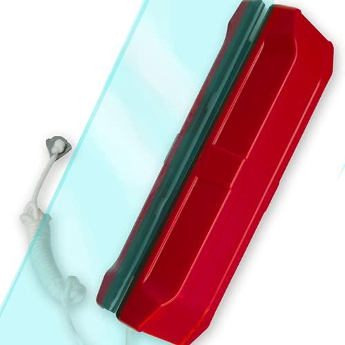 Limpia Cristales Ventanas Magnetico Aparato Limpiacristales Para Limpiar Interior Exterior de Vidrios Doble o Simple Iman magnético Vidrio 15-26 mm(Acristalamiento doble 15-26 mm)