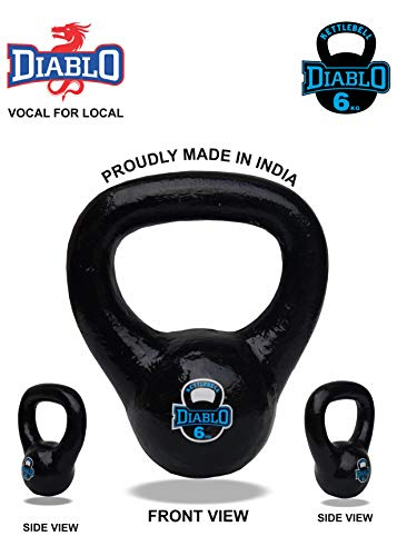 DIABLO Premium Fitness Solid Cast Iron Kettlebell Weights (Weight 6KG)