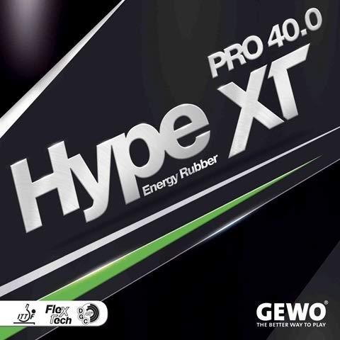 Buy GEWO Hype XT Pro 40.0 - Table Tennis Rubber, 2.1 mm Black