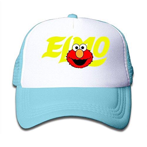 Grace Little Elmo's World Children Outdoor Mesh Hat Hiking Snapback Hat Adjustable SkyBlue
