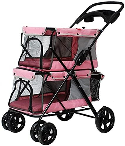 Passeggino del bambino, passeggino urbano leggero da nascita, passeggino a doppio cane o carrelli per cani, carrello passeggiata gemella con viaggio pet multiplo, posh pieghevole impermeabile viaggio