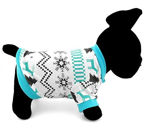 PEGASUS - Ropa para mascotas para cachorros, gatos, perros pequeños, 100% algodón, diseño de reno
