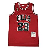 KKSY Camisetas de Hombre Chicago Bulls # 23 1996-1997 Camisetas de Baloncesto Chaleco Transpirable Retro,Red,M