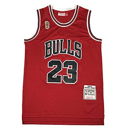 KKSY Camisetas de Hombre Chicago Bulls # 23 1996-1997 Camisetas de Baloncesto Chaleco Transpirable Retro,Red,L