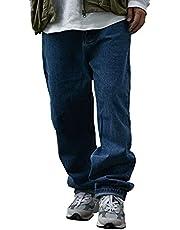YACORESYA デニムパンツ メンズ ワイドパンツ ゆったり ワイドデニム バルーンパンツ 太め ストリート トレンド hiphop系 バギーパンツ 大きいサイズ ヒップホップ ジーンズ ビッグシルエット ルーズ オールシーズン 春夏秋冬