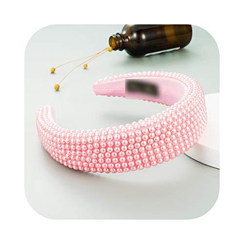 Diadema de cristal para mujer con brillantes brillantes y brillantes – 30. Pearl Light Pink