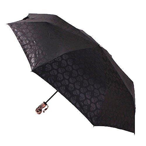 Paraguas plegable unisex con diseño de calaveras, de ColorDrip