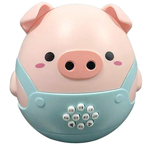 TomaiBaby Juguetes para Bebés Juguetes para Bebés Cerdo Musical Wobbler Roly Poly Juguete Juguete Educativo para Recién Nacidos para Bebés Regalo Juguetes para Favor (Azul)
