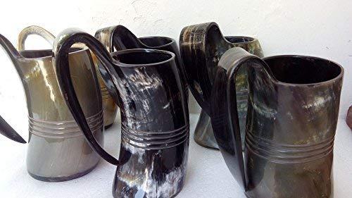 750ml set of 6 Norwegian Viking Drinking Horn Mug cup beer wine mead