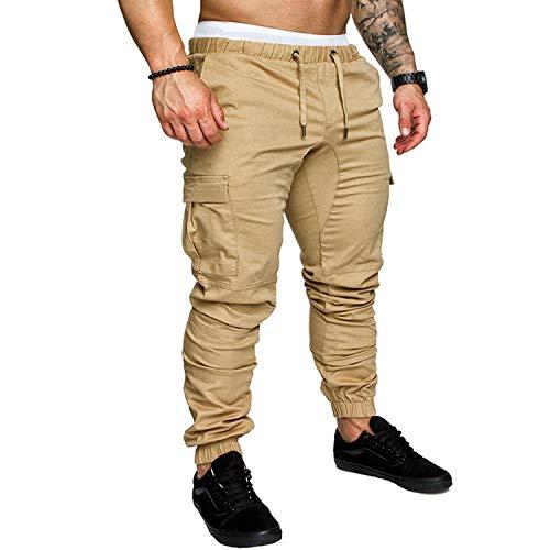 Pantalon de jogging hip-hop pour homme - Plusieurs poches - Taille M-4XL - Vert - 36-41