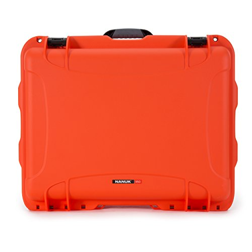 Nanuk 950 - Funda rígida Impermeable con Ruedas vacías, Color Naranja