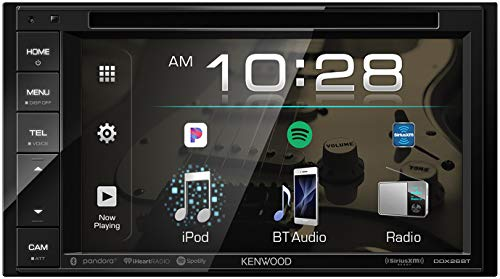 Kenwood DDX26BT Double DIN SiriusXM Ready Bluetooth In-Dash DVD/CD/AM/FM Car Stereo Receiver w/ 6.2' Touchscreen