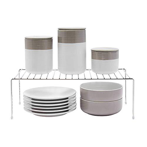 simplywire - Kitchen Cupboard Organiser - Storage Shelf - Wire Rack - Chrome