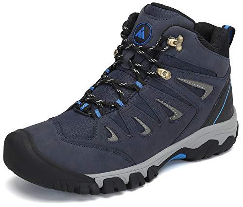Mishansha Trekkingschuhe für Herren Leichte Wasserdicht Wanderschuhe Atmungsaktiv rutschfeste Hiking Schuhe Outdoor Wanderstiefel,Blau,42 EU