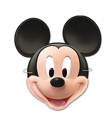 Topolino Mickey Mouse 6 x Maschera in Cartone per Compleanno Festa PARTY Carnevale Bambini