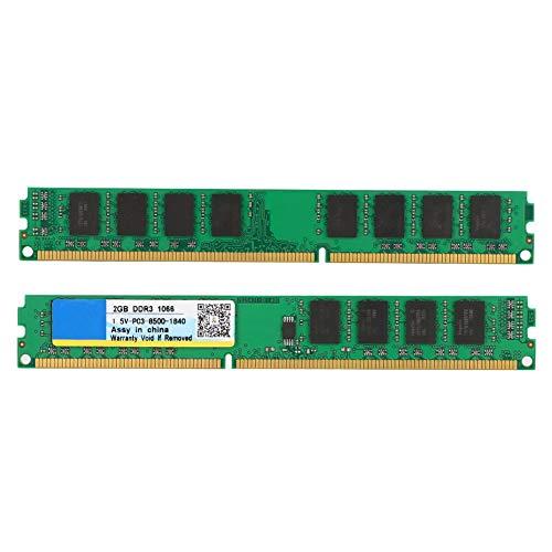 Annadue 2 GB DDR3 1066MHz PC3-10600 Módulo de Memoria de computadora de Escritorio de Alto Rendimiento para Intel para Placa Base AMD
