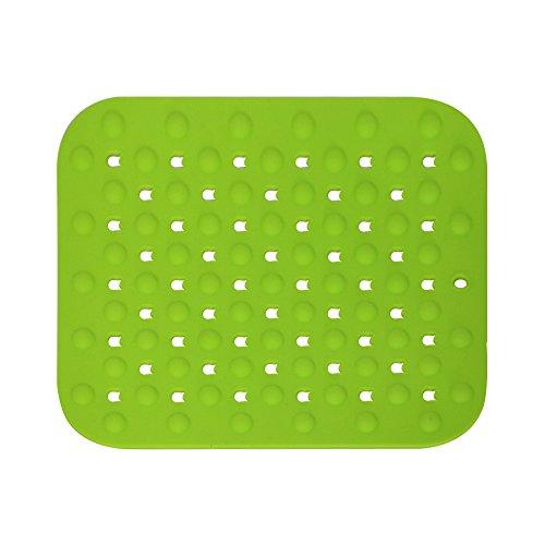 MG Power Alfombrilla de Silicona para Fregadero Multifuncional 32 x 28 x 0,5 cm (Verde)