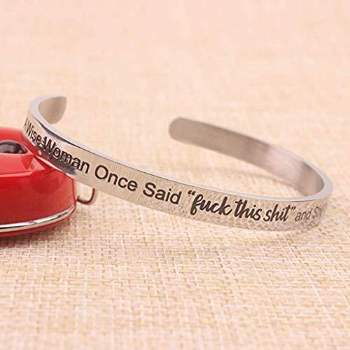 Ridkodg Shiny Bracelets Inspirational Gifts for Women - Meaningful Pendant Wrist Bracelet Anniversary Party Valentine's Day Present