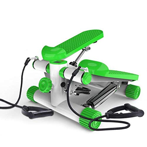DSHUJC Mini StepperFitness Stair Stepper Portable Twist Stair Stepper Adjustable Resistancewith Adjustable Resistance Green LCD Display and Comfortable Foot Pedals
