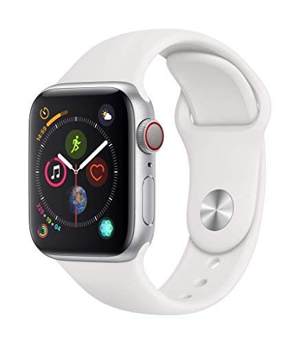Apple Watch Series 4 WFI 40mm, Sportarmband Weiß, Aluminium 40mm - Silber (Generalüberholt)