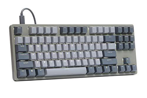 Drop ENTR Mechanical Keyboard — Tenkeyless Anodized Aluminum Case, Doubleshot Shine-Through PBT Keycaps, N-Key Rollover, USB-C, White Backlit LED, Tactile Switches (Green/Gray, Halo True)