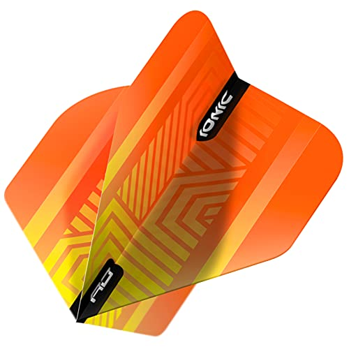RED DRAGON Hardcore Ionic Orange Dart Flights - 3 Sets Per Pack (9 Dart Flights in total)