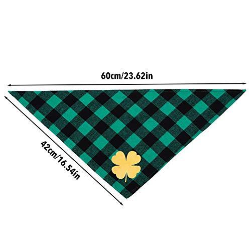 Shakala Haustier-Dreieck-Schellfisch-Zusatz-Baumwollschal, irisches Tageshundespeichel-Tuch St Patrick Tageshundebandana