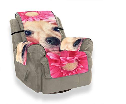 Chihuahua con flores alrededor de la cabeza 59132161 Silla mecedora Origin Funda antideslizante...
