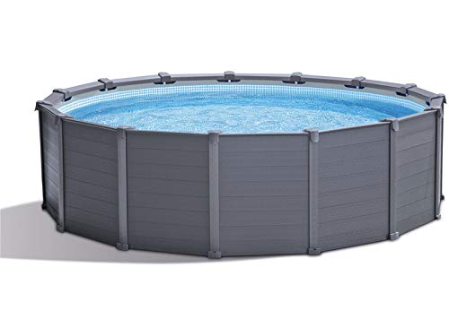 Intex 15Ft8In X 49In Graphite Gray Panel Pool Set