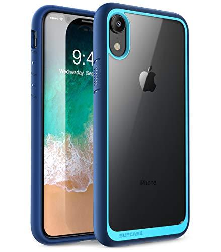 SupCase Funda iPhone XR [Unicorn Beetle Style] Delgada Carcasa Transparente Case para Apple iPhone xr 2018 -Azul