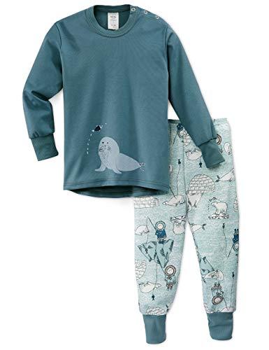 Calida Baby-Jungen Toddlers Seal Zweiteiliger Schlafanzug, Blau (Blue 408), 92/98 (Herstellergröße:92)