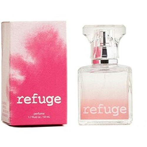 Charlotte Russe Refuge Perfume 1.7 Ounce Blended Pink Box Retired Version Raspberries Peach Green Apple and Sandalwood