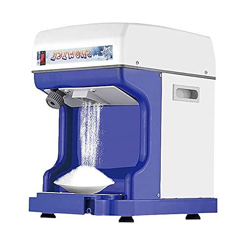 MNSSRN Máquina automática eléctrica de Hielo de Nieve, máquina de Hielo Comercial automática 250W, máquina de Lodo de Hielo para el hogar portátil, Grosor Ajustable