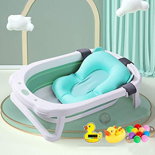 Temperatuurgevoelige babybadje, pasgeboren kunnen zitten en liggen in de badkuip, opvouwbaar en telescopische, draagbare opslag, beschikbaar voor 0-8 jaar oud,I