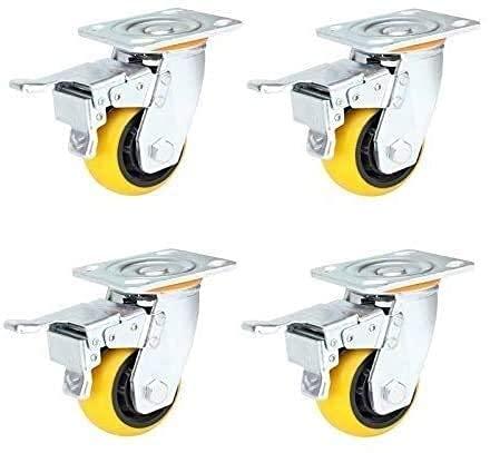 ZHANGYY Rueda Universal de 4/5/6 Pulgadas, Doble cojinete, compresión Resistente al Desgaste, Ruedas industriales de Servicio Pesado (tamaño: Freno de 6 Pulgadas 4)