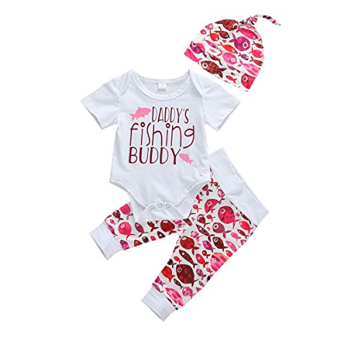 Geagodelia Newborn Toddler Baby Girl boy 3Pcs Clothes Set Summer Outfit...